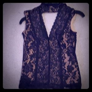 Bebe lace stretch top.xxs